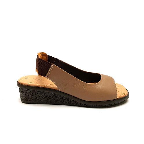Peep Toe Flat Comfort