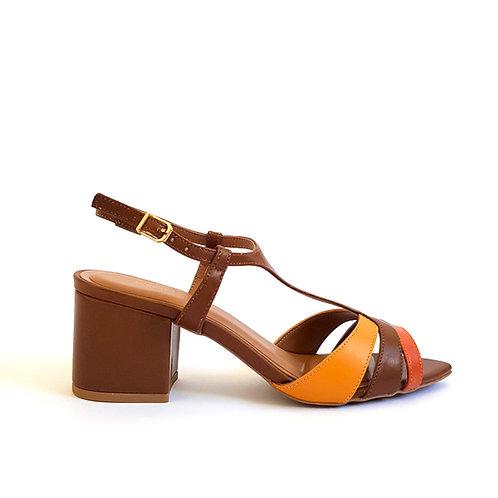 Sandália Color Salto Bloco