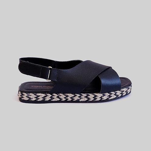 Sandália Papete Velcro Preto
