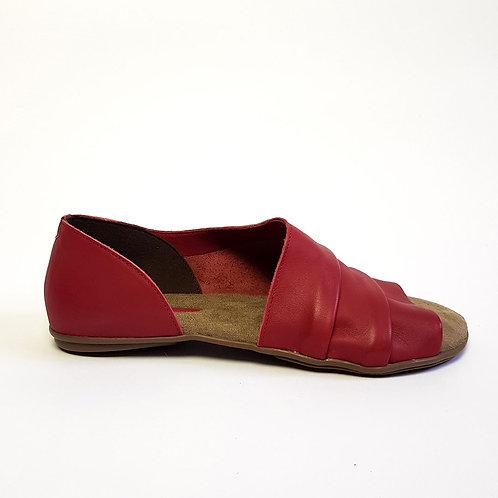 Sandália Assimétrica Vermelha