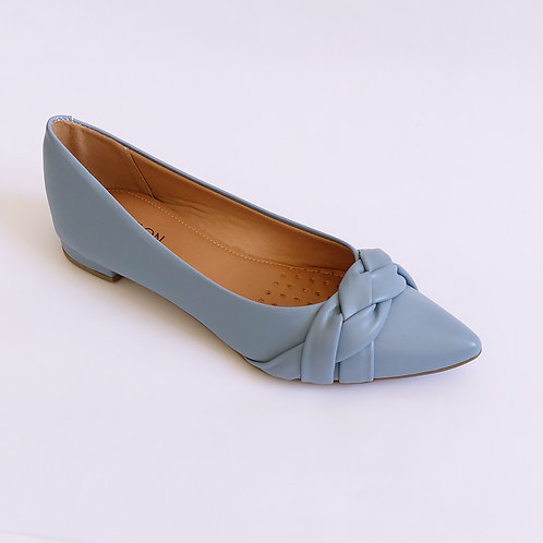 Sapatilha Bico Tressê Azul