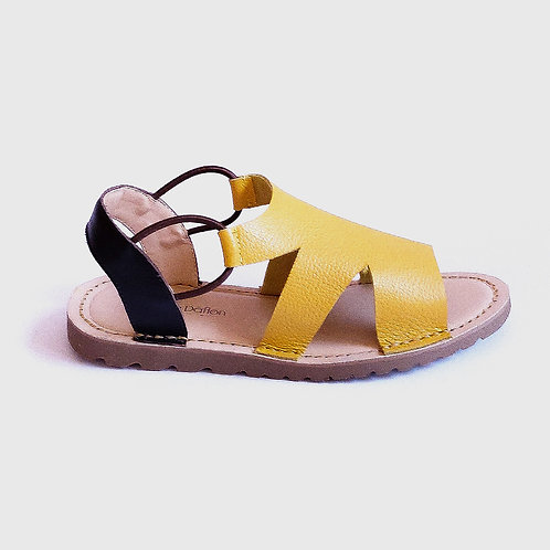 Sandália Comfy Minimalista Amarela