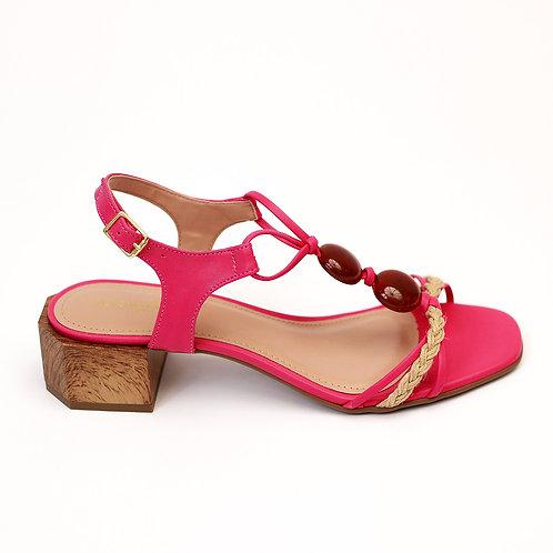 Sandália Pink Tira Pedras