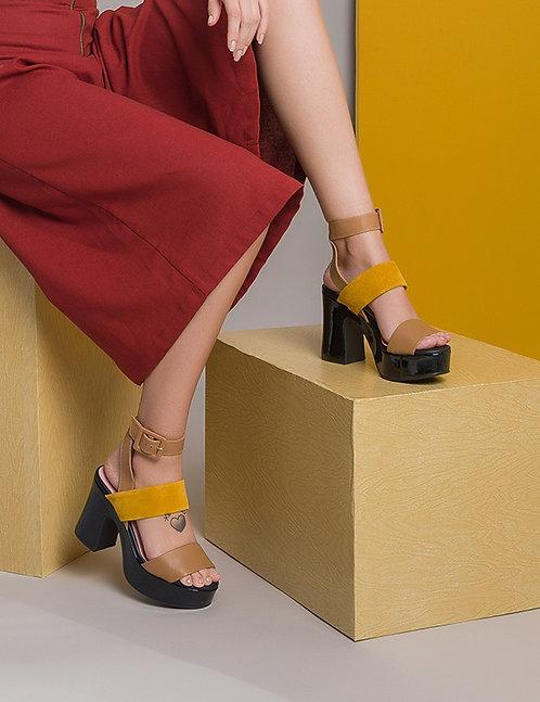 Sandália Plataforma Meia Pata Color