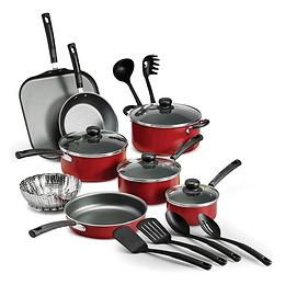 18 Piece Nonstick Pots & Pans Cookware Set