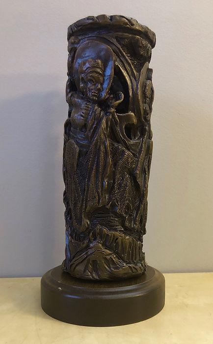 Beggar and Buda Vase