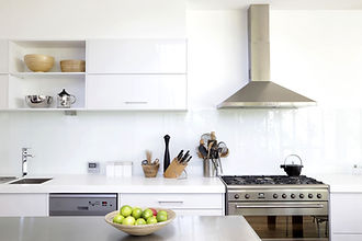 Clean European White Acrylic Kitchen