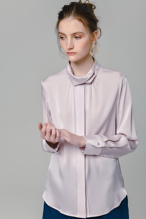 Ecru Emissary | Seal Silk Blouse