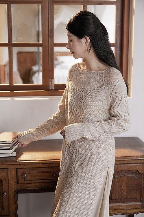 MOLIFUSU | Anne Cream Knit Dress