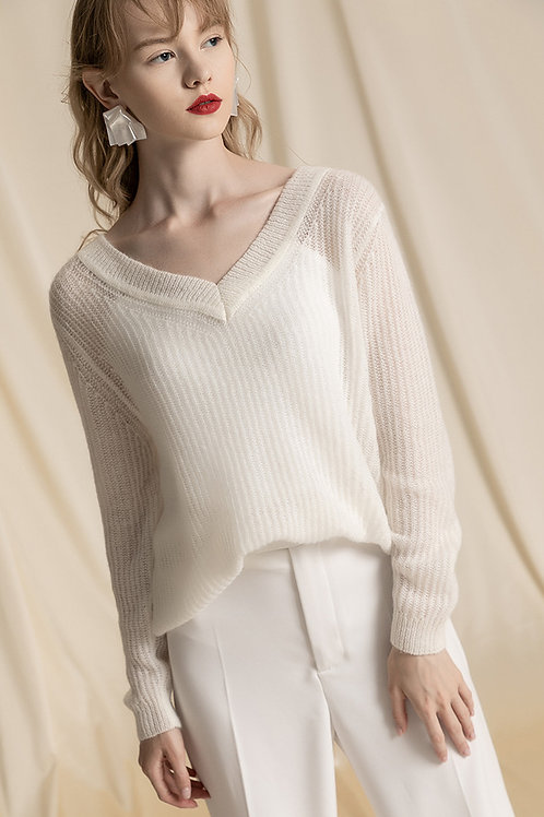 Ecru Emissary | White Dinah Sweater