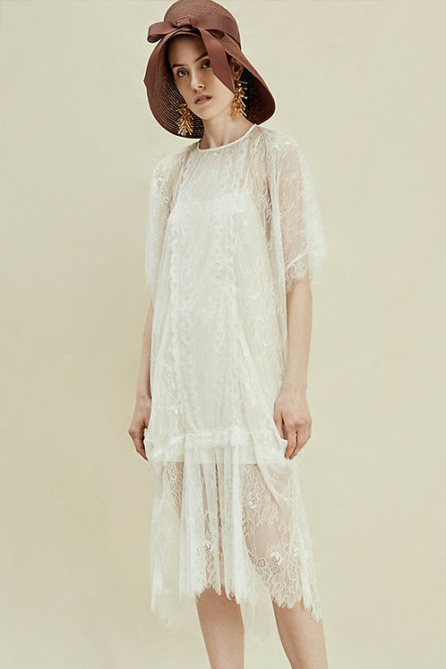 Rimless | White Floral Lace Slip Dress