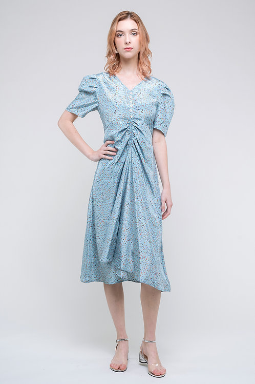Ecru Emissary | Blue Cora Midi Dress