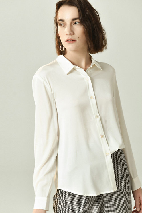 Ecru Emissary | Amy Silk Shirt