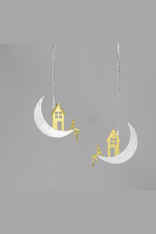 Moon House Earrings