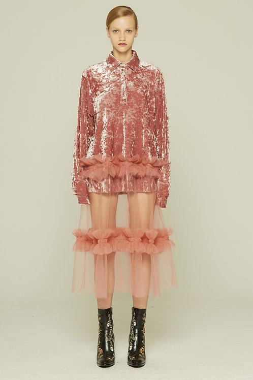Fussed   Pink Sheer Dress