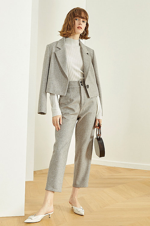 FANSILANEN | Gray Woolen Pants
