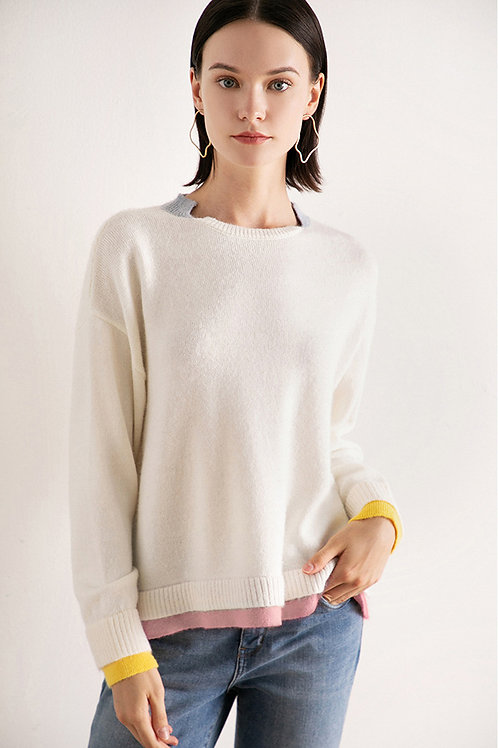 Ecru Emissary | White Shelby Knit