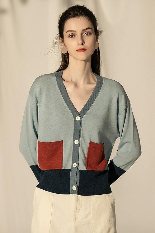 Ecru Emissary | Blue Finge Sweater