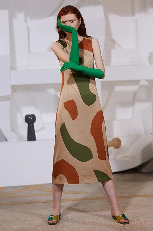 Rimless | Khaki Green Asymmetric Dress