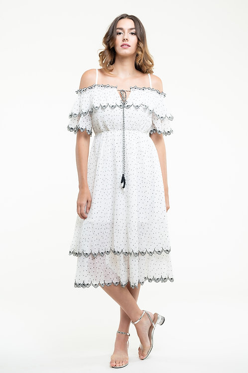 Ecru Emissary | Aubrey Midi Dress