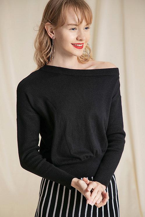 Ecru Emissary   Black Luna Knit