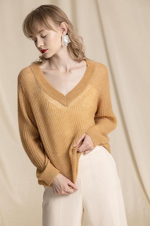 Ecru Emissary | Yellow Dinah Sweater