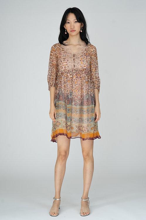Ecru Emissary | Celeste Silk Dress