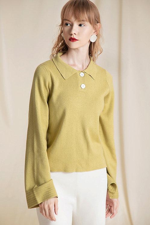 Ecru Emissary | Bias Sweater