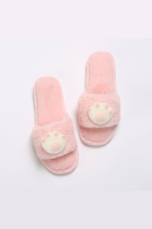 Lykke Home   Pink Paw Slippers