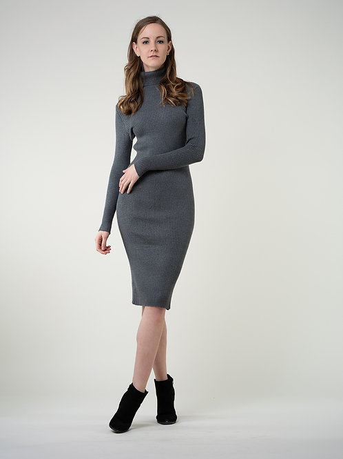 Ecru Emissary | Grey Wool Blend Maxi Dress