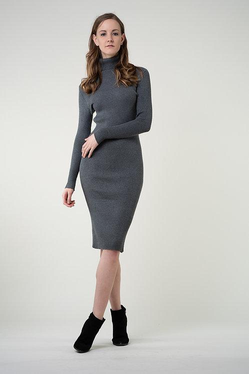 Ecru Emissary | Grey Wool Blend Maxi Dress