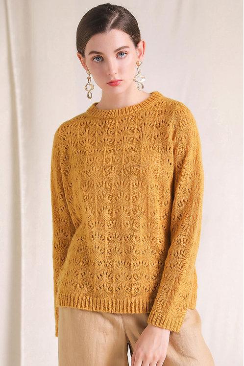 Ecru Emissary | Yellow Apricot Sweater
