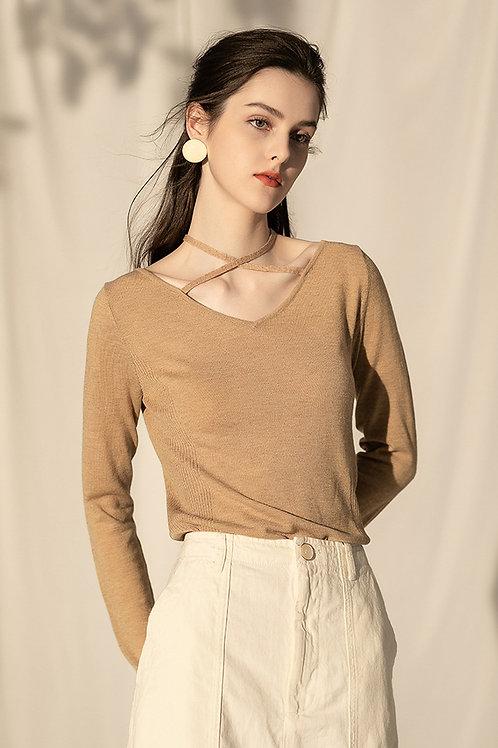 Ecru Emissary | Brown Perrine Knit