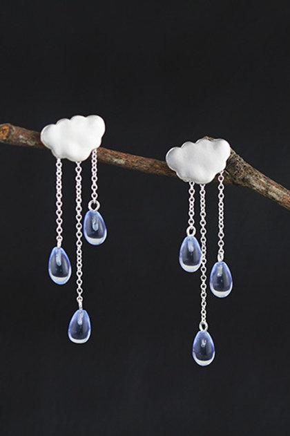 Cloud with Drops Earrings