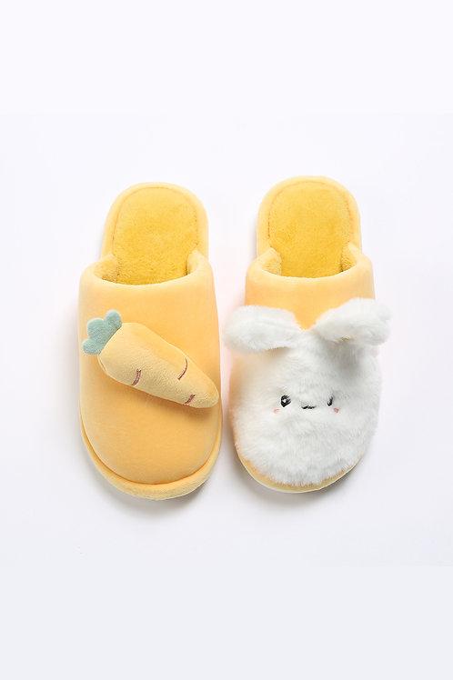 Lykke Home | Yellow Rabbit & Carrot Slippers