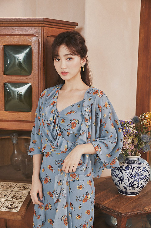 MOLIFUSU   Blue Mermaid Kimono