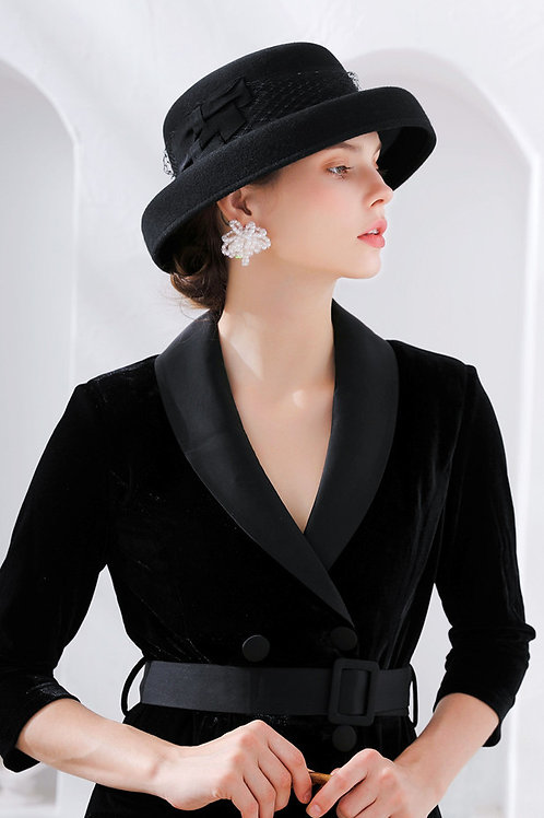 Ecru Emissary | Black Scenic Wool Hat