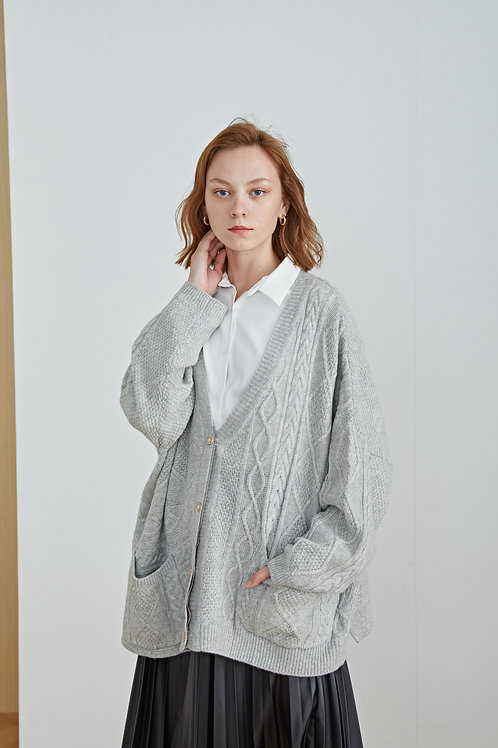 Ecru Emissary | Long knit Jacket
