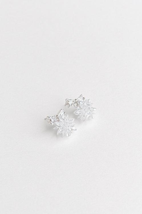 Bow Ice Crystal Earrings