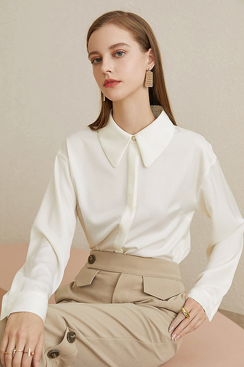 FANSILANEN | Satin Basic Shirt