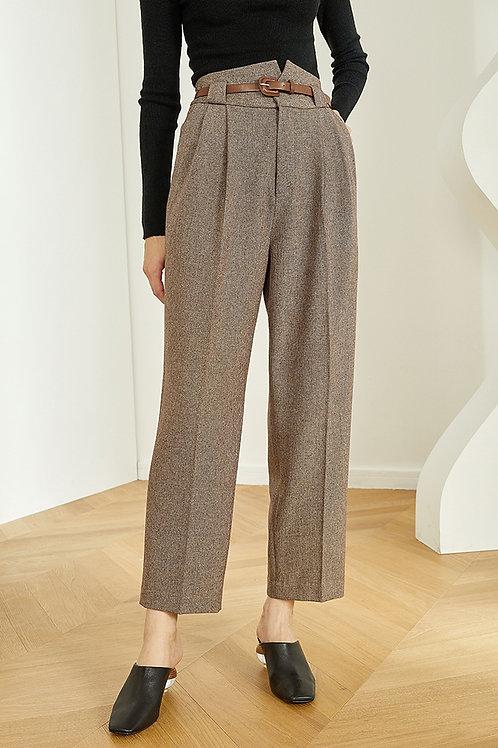 FANSILANEN | Woolen Belt Pants