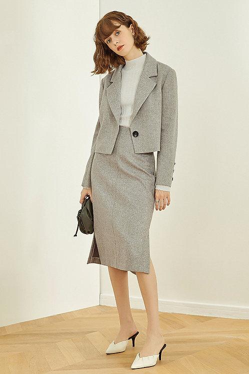 FANSILANEN | Gray Woolen Skirt