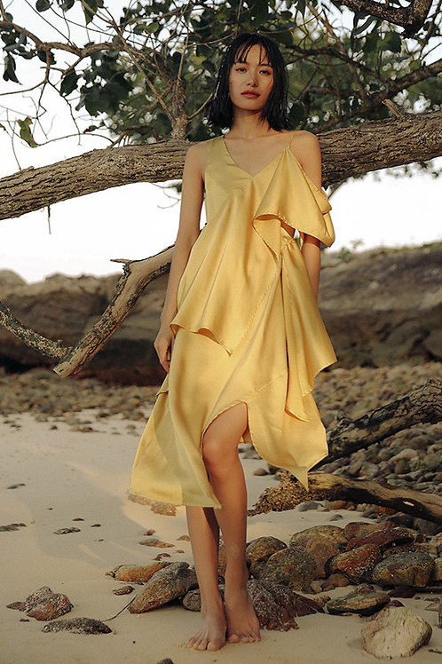 Since Then | Gold Sunrise Wavy Dress