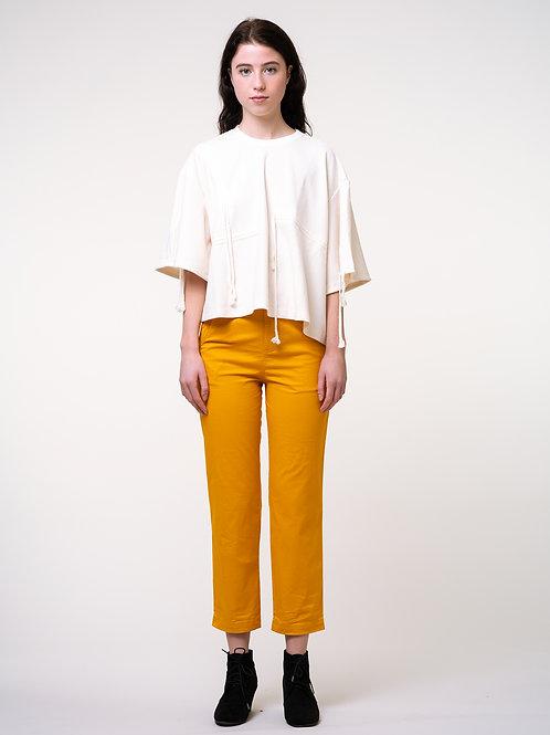 Rimless | Orange-yellow Straight Cropped Pant