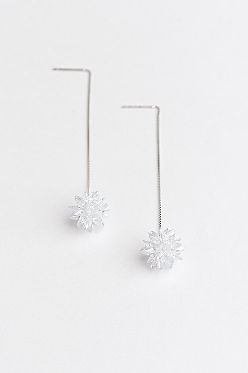 Ice Crystal Dropping Earrings