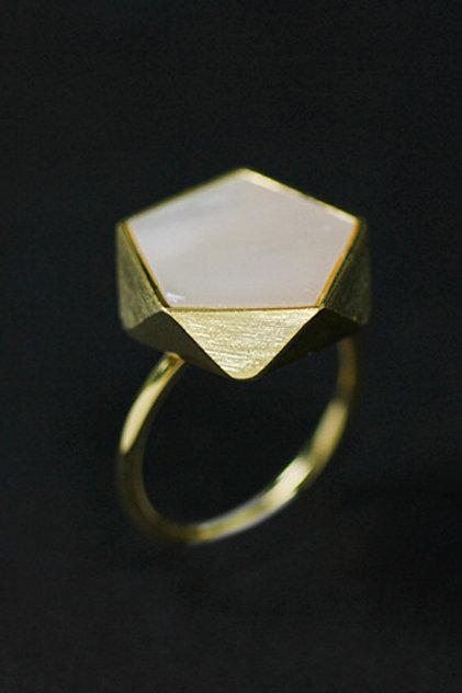 Minimalism Pentagon Ring