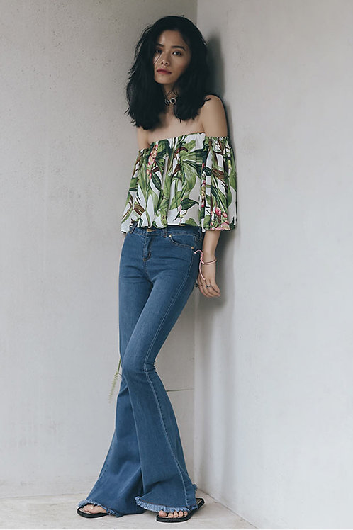 Since Then   Off-the-shoulder Top with Bell Sleeves