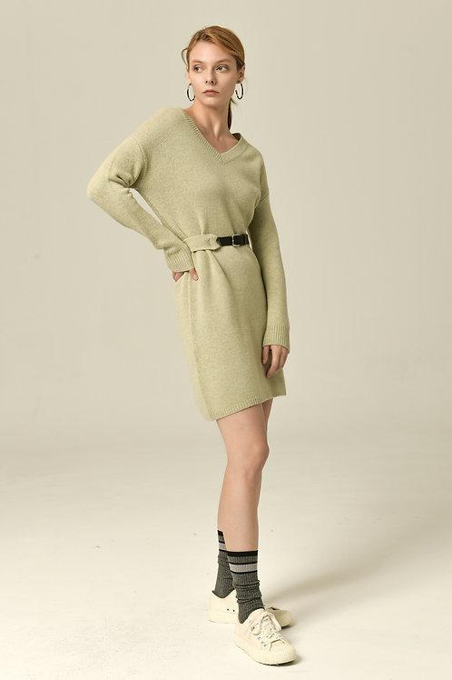 Ecru Emissary | Green Margaret Knit Dress
