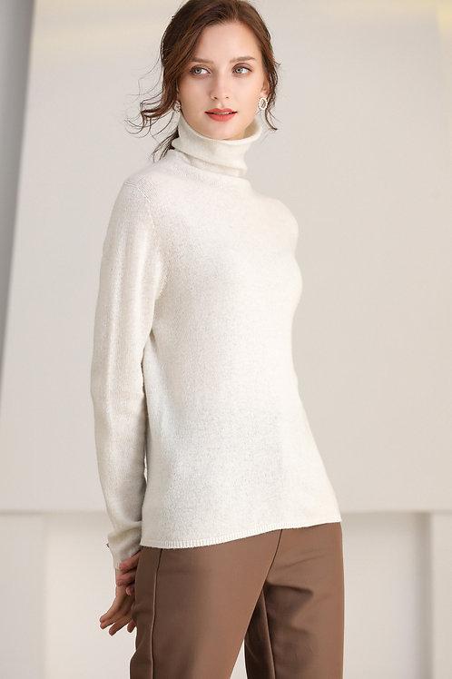 Ecru Emissary | White Leonora Wool Sweater