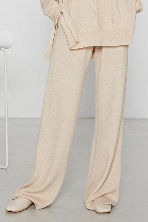 Ecru Emissary | Beige Aliyah Wool Blend Pants